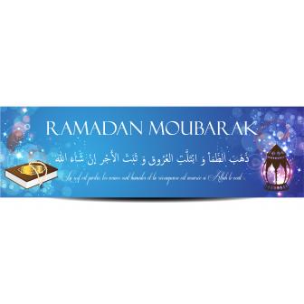 Banderole ramadan moubarak coran et lanterne