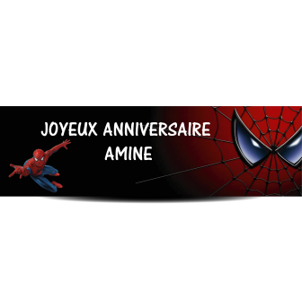 Banderole spiderman