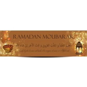 Banderole ramadan moubarak lanterne et dattes
