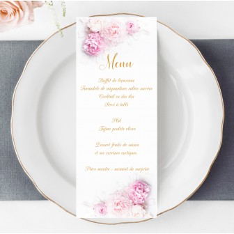 Menu Personnalisé Collection Peony