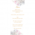 Menu Personnalisé Collection Pivoines