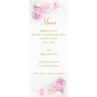 Menu Collection Peony