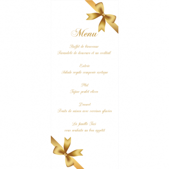 Menu Collection Gold