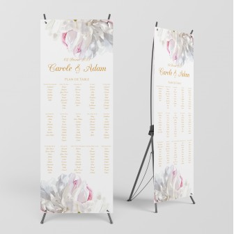 Plan de table pivoines