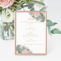 Carte menu bouquet
