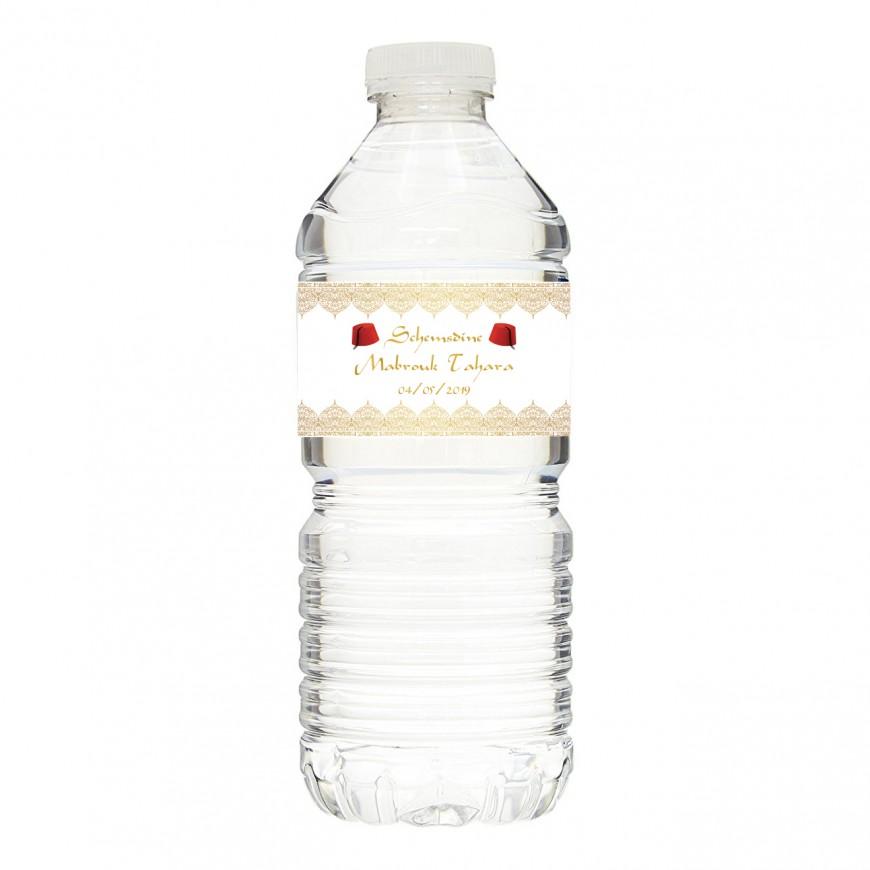 Tour de bouteilles autocollantes tahara
