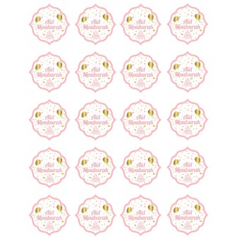 Lot de 20 autocollants rose