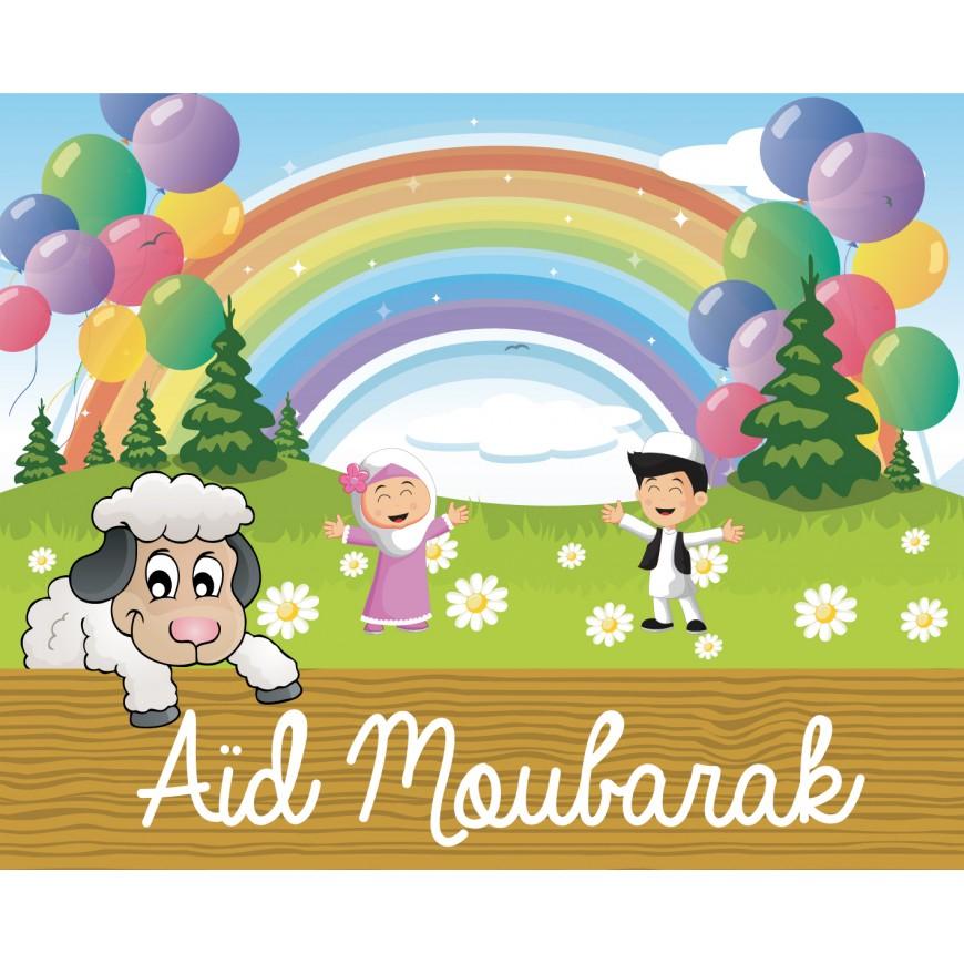 Banderole mouton muslims