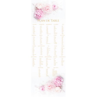 Plan de table peony