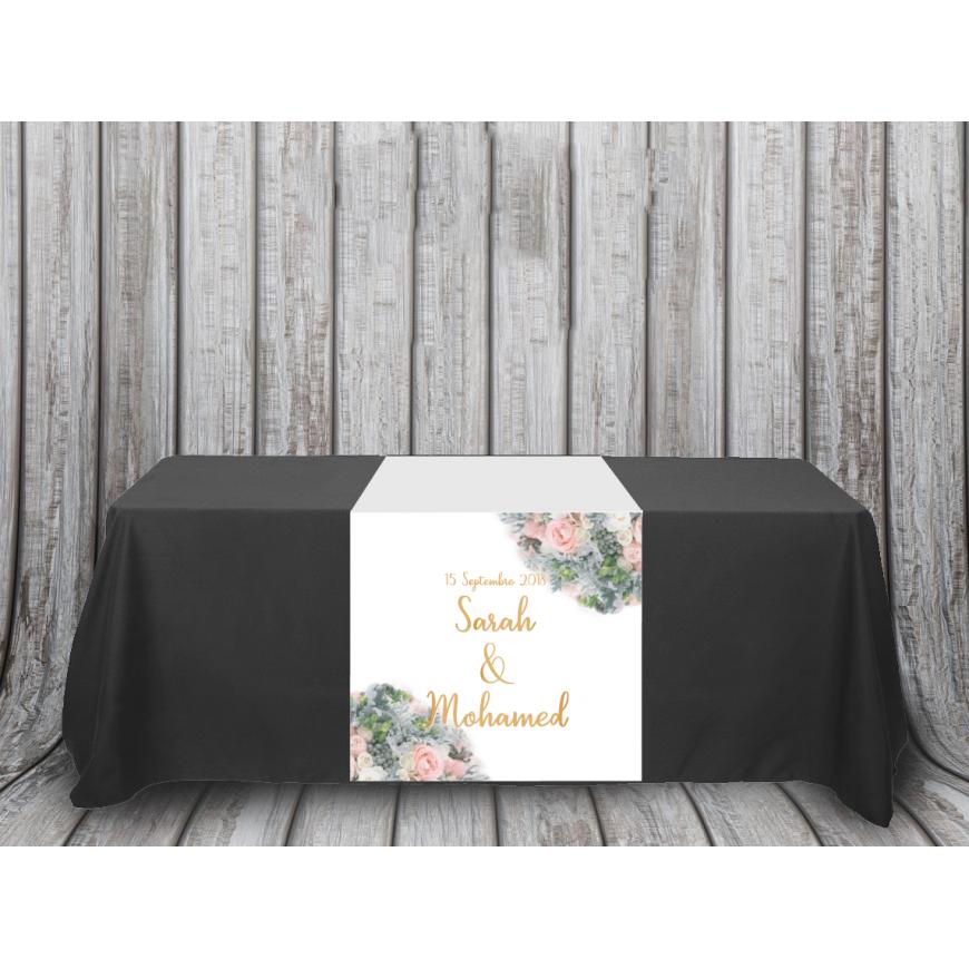 Chemin de table personnalisé Collection Bouquet